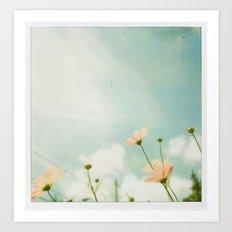 Blue Sky Polaroid Art Print