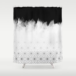 Christmas Geometric Pattern Shower Curtain