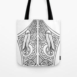 Huia Maori Art Kowhai Flower Tote Bag