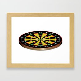 Classic Typical Darts Board Framed Art Print