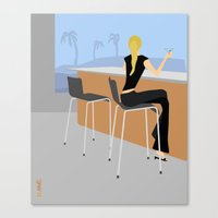 bar Canvas Prints featuring Bar by Aimee Liwag