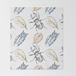 Bugs and leaves Throw Blanket