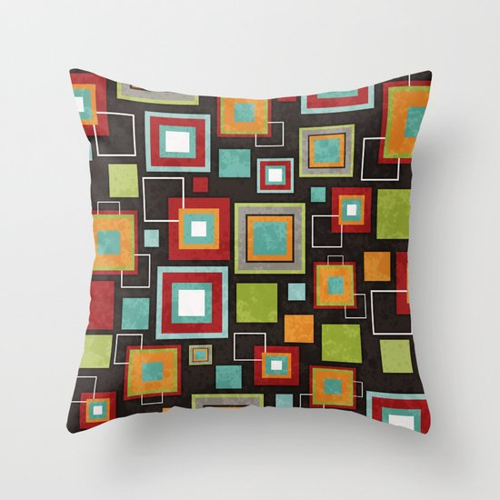 Oh So Retro! Throw Pillow