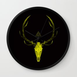Rise of The King in Yellow Wall Clock