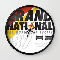 the national Wall Clocks featuring Grand National by CynthiaLeduc