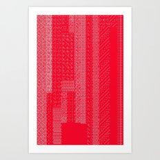 White Over Red Art Print