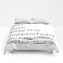 Live, love, play the harpsichord Comforters