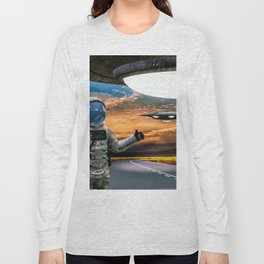 Hitchhiking Around The Universe Long Sleeve T-shirt