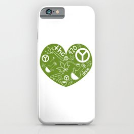 """A Nice Cannabis Tee For High Persons """"The 420"""" T-shirt Design Dope Peace Pot Cigarette Pipe Plants iPhone Case"""