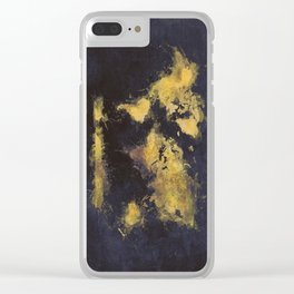 world map 65 yellow Clear iPhone Case