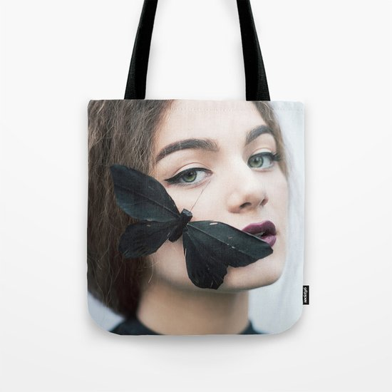 Butterfly black Tote Bag