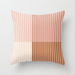 Color Block Line Abstract XVI Throw Pillow