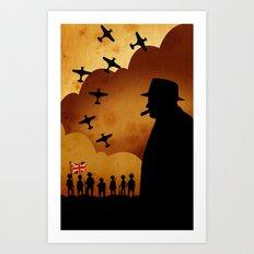 Winston Churchill - World War II Art Print