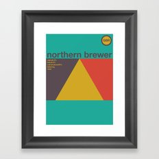 northern brewer single hop Framed Art Print