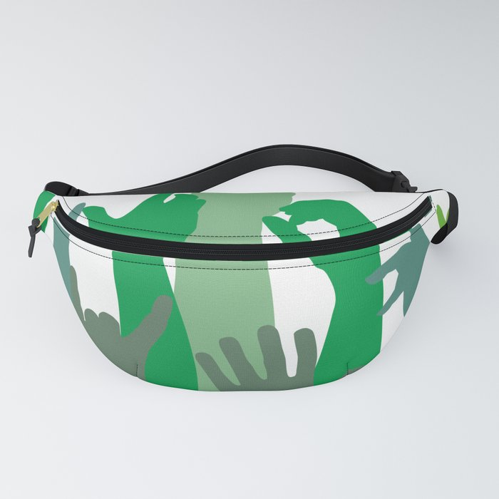 Green hands icons Fanny Pack