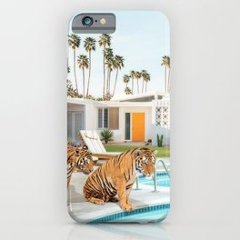 Tigers at the Pool iPhone Case