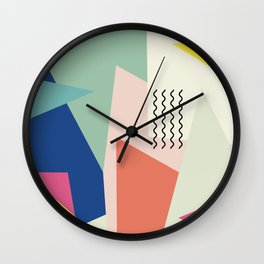 Shapes and Waves Wall Clock