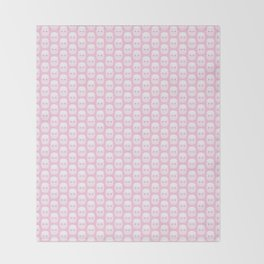 Cute pink marshmallows Throw Blanket