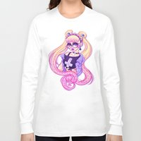 pastel goth Long Sleeve T-shirts featuring Pastel Goth Usagi (Glasses ON) by Gunkiss