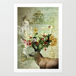 Happy Elk Art Print