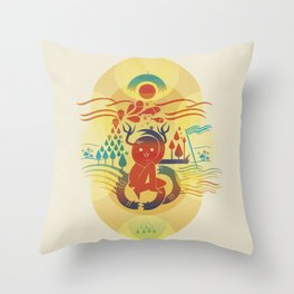 Sea and sand Throw Pillow