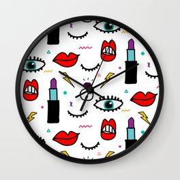 Abstract Eye and Cosmetics Wall Clock