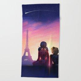 Miraculous in Paris Beach Towel