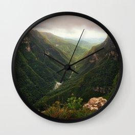 Canyon of Waterfalls Wall Clock