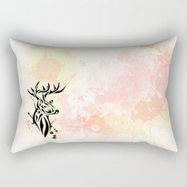 Stag Tribal  Rectangular Pillow
