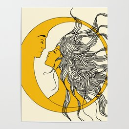 Sun and Moon Poster