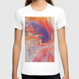48 Remolino Blue   Abstract Artwork T-shirt