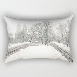 Winter Snow in New York City Rectangular Pillow