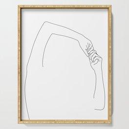 Hands line drawing illustration - Jojo Serving Tray
