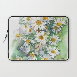 Watercolor chamomile white flowers Laptop Sleeve