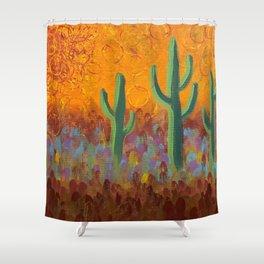 Saguaros Dreaming Shower Curtain