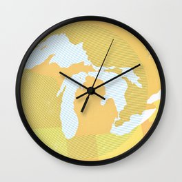 The GREAT LAKES of NORTH AMERICA Wall Clock