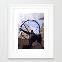 atlas Framed Art Prints featuring Atlas by Kaitlynn Lewis