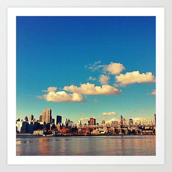 Clouds over the city Art Print