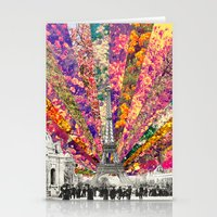 Stationery Cards featuring Vintage Paris by Bianca Green