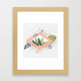Abstract geometrical and botanical shapes I Framed Art Print