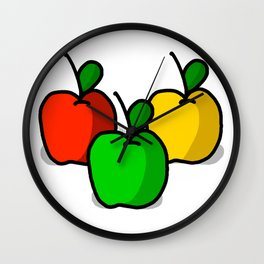 Apple Trio | Veronica Nagorny Wall Clock