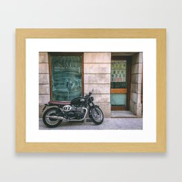 Bike in Majorca Framed Art Print