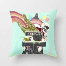 SURREAL WITCH Throw Pillow