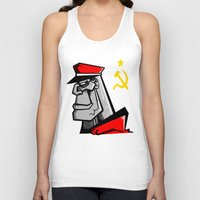 russia Tank Tops featuring For Russia by Dangerous Monkey