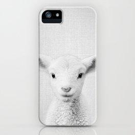Lamb - Black & White iPhone Case