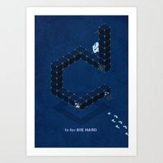 D is for Die Hard Art Print