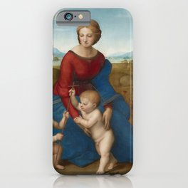 Madonna in the Meadow by Raphael iPhone Case