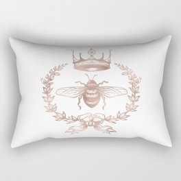 Queen Bee in Rose Gold Pink Rectangular Pillow