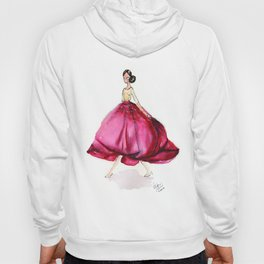 Red Fashion Watercolor Model Hoody