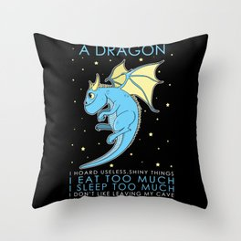 Five Signs To Be A Dragon Throw Pillow